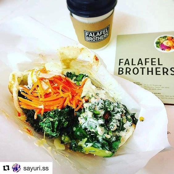 Falafel sandwich of FALAFEL BROTHERS